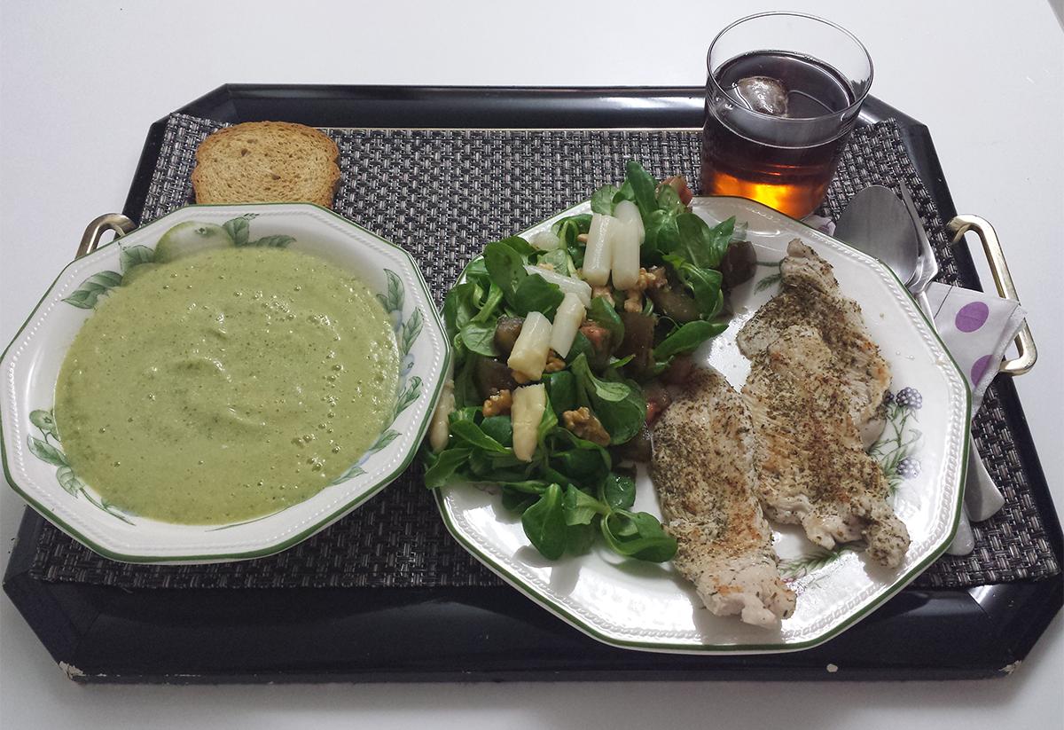 recetas saludables, comida sana, crema de calabacín