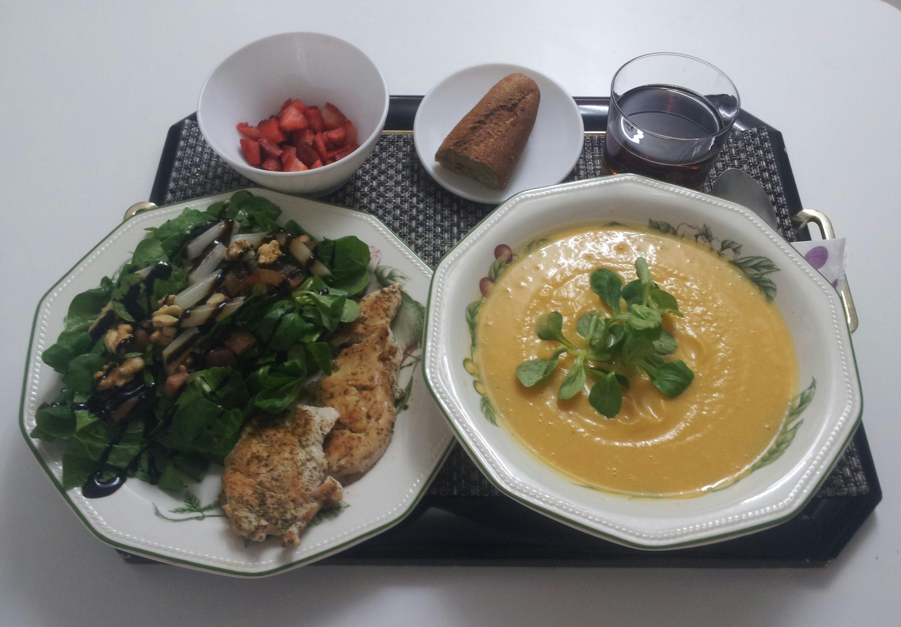 Comida 01 mayo 2013 ensalada pur de calabaza pechuga - Comidas ricas sanas y faciles ...