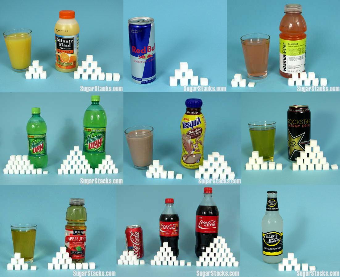 Bebidas azucaradas con terrones de azúcar.