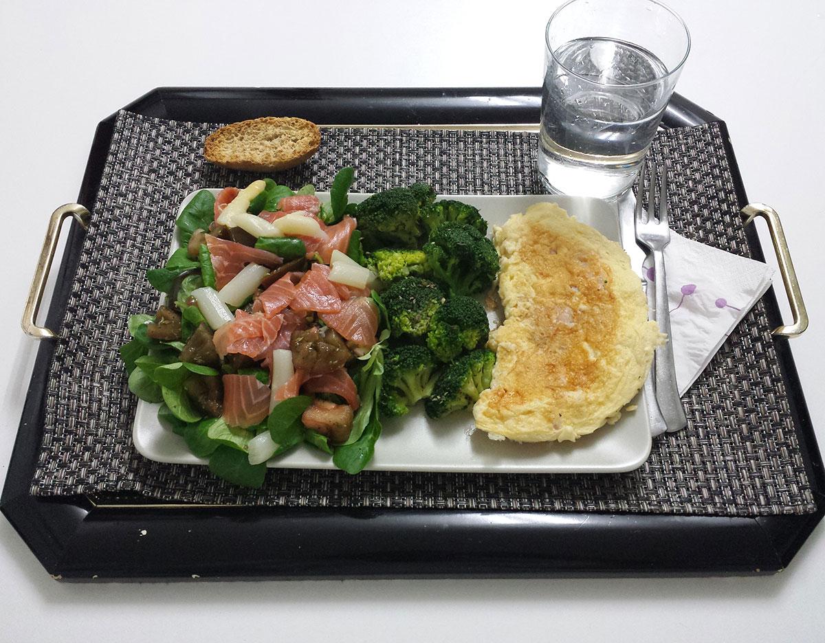 cena saludable, cena sana