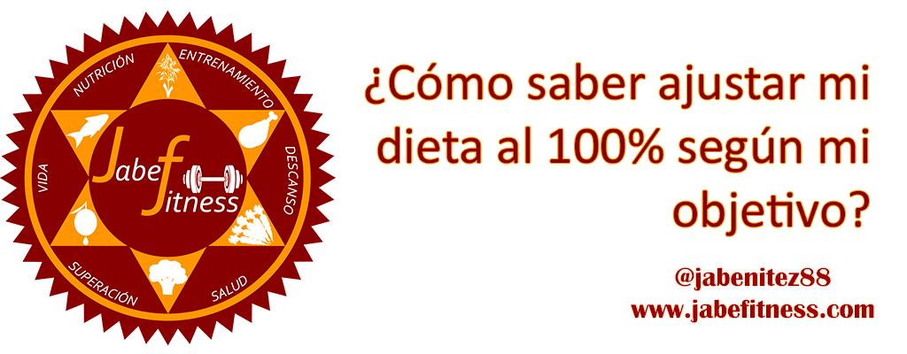 C mo saber ajustar mi dieta al 100 seg n mi objetivo for Dieta definicion